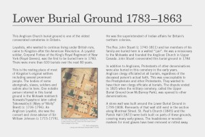 Lower Burial Ground Interpretive Panel