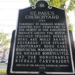 St. Paul's Churchyard historical plaque