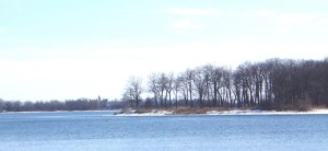 Belle Island today, in the Cataraqui River, adjacent to Belle Park Fairways on Montreal Street (Sue Bazely)
