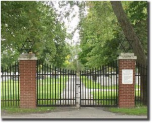 Gates to the Beth Israel Cemetery (Beth Israel website)