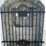 Restored Forsyth Monument with protective fence
