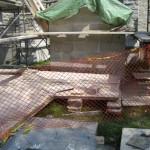Forsyth Monument under restoration in Kingston's Lower Burial Ground