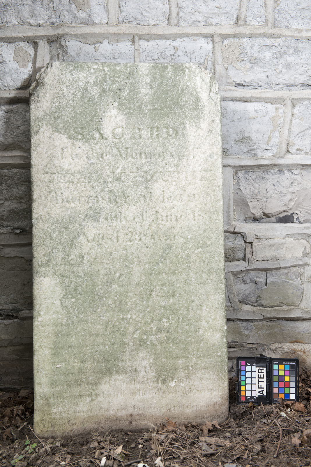 Stone for William F. Murney in Kingston's Lower Burial Ground