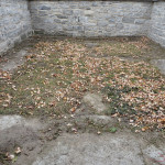 Stuart Lair prior to restoration in Kingston's Lower Burial Ground