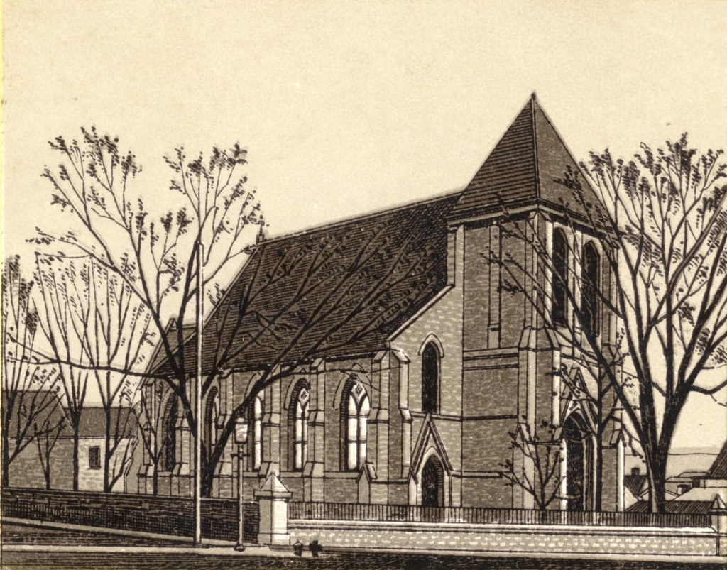 St. Paul's Church, c1888, published in a small hard-cover booklet of Henry Henderson's photographs that were printed as engravings by John Henderson & Co. (Collection Jennifer McKendry)