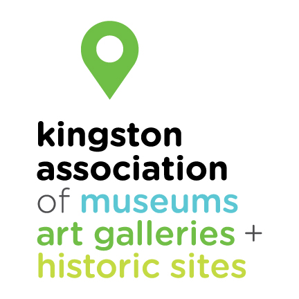 Logo for the Kingston Association of Museums, Art Galleries and Historic Sites