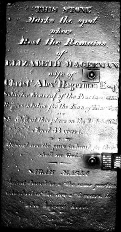 RTI of marker for Elizabeth and Sarah Maria Hagerman (Alex Gabov)
