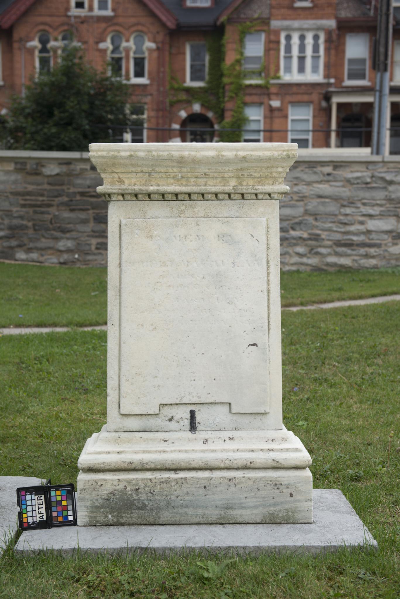 East side of marker for Robert Macaulay (Alex Gabov)