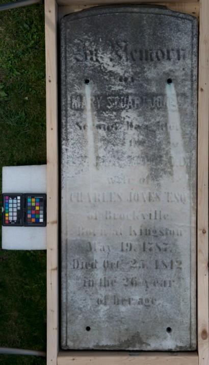 Marker for Mary Stuart Jones, dau of Rev Dr. John Stuart
