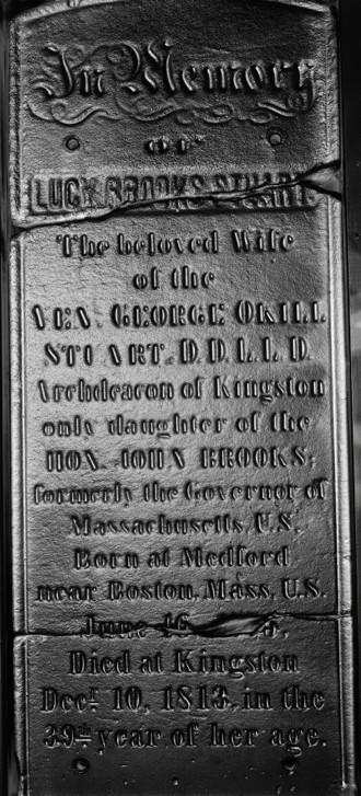 Marker for Lucy Brooks Stuart, wife of George Okill Stuart